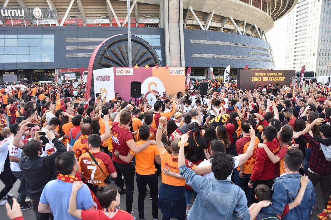 Türk Telekom sponsorluğunda Şampiyon Galatasaray'a özel kutlama